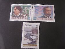 Canada, Scott # 1243a/1244a(pr)+1256,Poet s+Winter Landscapes 1889 Issue Mnh