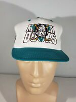 No 1 Apparel NHL Anaheim Mighty Ducks Vintage Snapback Hat in Teal and White