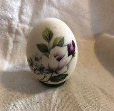 Vintage Porcelain Hand Painted Floral Egg