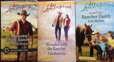 Harlequin Love Inspired Heartwarming Romance 3 Rancher set 907