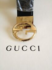 Gucci Interlocking  reversible G belt buckle100% Authentic, with leather strap