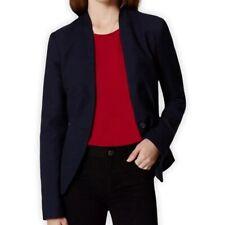 Ann Taylor Loft Career Blazer Womens Size 8 Black Collarless Button Fitted