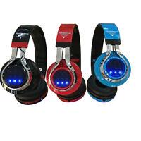 Kids Wireless Bluetooth Ear Headphones Girls Foldable LED Earphones Headset RF