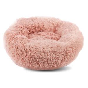 Pet Bed Plush Comfy Self Warming Washable Cat Dog Fluffy Dream Cloud Pink Medium