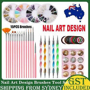 46Nail Art Design Brushes Tool Set Dotting Painting Drawing Polish Pen Tool Kit