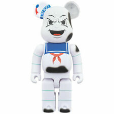 Stay Puft Bearbrick 400% Marshmallow Man Medicom Be@rbick GhostBusters Burnt 100