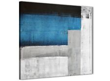 Blue Grey Painting Kitchen Canvas Wall Art Decor - Abstract 1s423m - 64cm