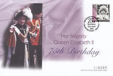 (19522) Gibraltar FDC Queen 75th Birthday 20 April 2011