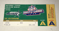 1998 Padres Astros MLB Playoffs NLDS Game 1 A @ ASTRODOME Ticket Stub Brown Win