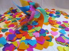 1000 x  Tissue Paper Rainbow Hearts Confetti/Favors/Multi-Coloured