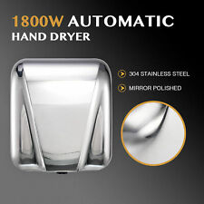 Commercial Electric Hand Dryer Machine Touchless Auto Air Stainless Steel 18