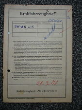 Auto Union DKW Junior de Luxe 34 PS 1,0 Ltr 1962 5-Sitzer Datenblatt Brief XX