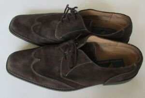 Giorgio Brutini brown suede lace up shoes sz 10.5