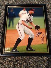 Chipper Jones #10 Autograph 8x10 Photo Atlanta Braves Authentic W/ Rookie Card