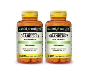 PACK 2x 60 = 120 TABLETS CRANBERRY & PROBIOTIC CONCENTRATED Urinary Tract Health
