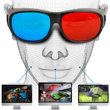 Universal Type 3D Glasses Red Blue Cyan 3D Anaglyph 3D Plastic Glasses New FTSS