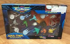 """STAR TREK Micro Machines """"SPACE"""" Collector's Limited Ed 16 Vessels w/ Stands NIB"""
