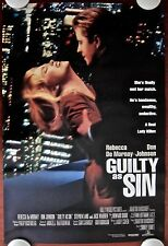 GUILTY AS SIN ~ Original (1993) 27x40 Movie Poster ~ ROLLED  MINT CONDITION!