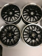 """Alloys 17"""" to fit 5 stud Vauxhall 5/110 ZCW Angel Gloss Black Polished New"""