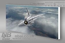 E/E F.2A Lightning 19 Squadron, RAF Gutersloh CANVAS PRINT, Digital Artwork.