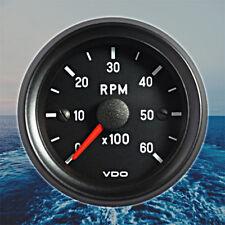 """VDO Cockpit International Tachometer Gauge 6000 RPM 52mm 2"""" 12V 333-035-017C"""