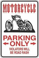"*Aluminum* Motorcycle Parking Only 8""x12"" Metal Novelty Sign  S344"