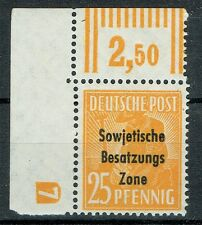 Sowjetische Besatzungszone SBZ MiNr 191 postfrisch +Druckerzeichen geprüft Paul