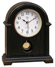 Klassische Tischuhr Kaminuhr mit Pendel Uhr Westminster Stundenschlag Nussbaum