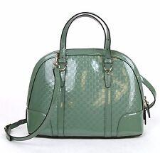 Gucci Green Patent Leather Convertible Guccissima Crossbody Handbag 309617 3405