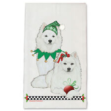 American Eskimo Eskie Dog Christmas Kitchen Towel Holiday Pet Gifts