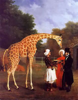 "Unframed #1860 Original Oil Painting Africa Giraffe 24/""×36/"" Animals on canvas"