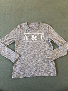 Boys Abercrombie & Fitch Long Sleeve Grey T-shirt Age 11/12. Excellent Condition