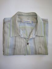 Men's Tommy Bahama  Sz XL 100% Silk S/S Button Front Camp Style Shirt