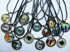 Glass Tibetan Silver Awareness Costume Necklaces & Pendants