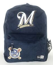 New Era Stadium Pack MLB Milwaukee Brewers Heritage Patch Navy Laptop Backpack