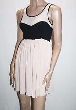 LUKA Designer Black Nude Mesh Lace Ballerina Dress Size 8-XS BNWT #SS46