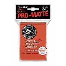 50 PRO MATTE DECK PROTECTORS Peach Pesca MTG MAGIC Ultra Pro