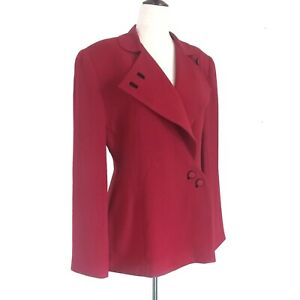 Vintage Zelda Size 6 Womens Red Blazer Jacket 1980s Does the 1940s