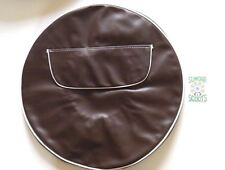 "BROWN SPARE WHEEL COVER - ZIPPED POCKET - 10"" WHEEL- VESPA / LAMBRETTA SCOOTERS"
