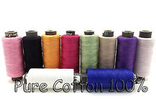 10 x COTTON SEWING THREAD - YARN/SPOOL/REEL - MIXED/ASSORTED/COLOURS UK