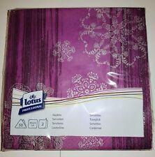 Lotus 404751  Purple  Professional Napkins 4 Fold 33cm -  THREE cases of 600