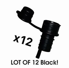 Haley's Corker 5-in-1 Aerator, Stopper, Pourer, Filter,Re-Corker BLACK (12)