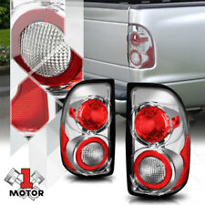 Chrome/Clear *EURO ALTEZZA* Tail Light Rear Brake Lamp for 97-04 Dodge Dakota