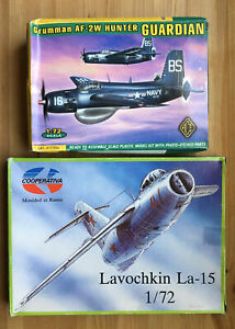 2 1/72 scale Aircraft Kits - Grumman AF-2W (Ace) & Lavochkin La-15 (Cooperativa)