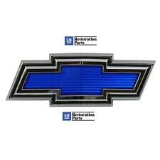 1971 1972 Chevy Blazer Suburban Truck Hood Grille Emblem Bowtie Blue USA Made