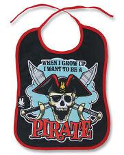 SIX BUNNIES BABY Jolly Roger Pirate Skull Bavaglino unisex doccia REGALO BIKER