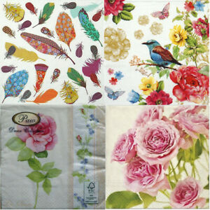 20 PAPER NAPKINS SHABBY CHIC DECOUPAGE VINTAGE CHOICE OF 4