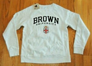 NEW ADULT CHAMPION REVERSE WEAVE BROWN UNIVERSITY ASH GREY SWEATSHIRT XS $54.95