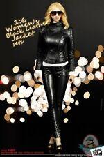 1/6 Figure Accessories Women's Black Leather Jacket sets MC-F062