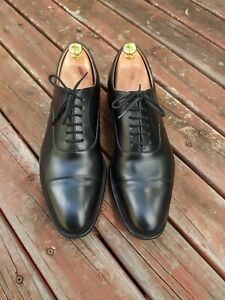 CHURCH'S Dubai Black Cap Toe Oxford Dress Shoes 9.5G UK Barely Used